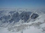 浅草岳の山頂から鬼ケ面方面(冬)